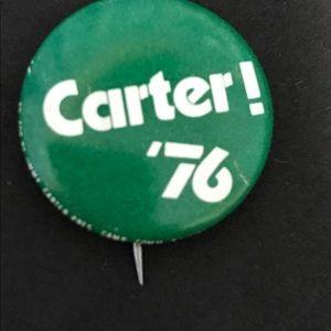 Vintage President Carter Campaign Button 1976